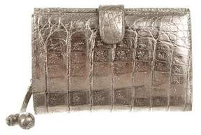 Nancy Gonzalez Metallic Crocodile Wallet