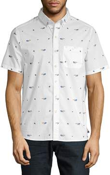 Michael Bastian Men's Graphic Cotton Button-Down Shirt