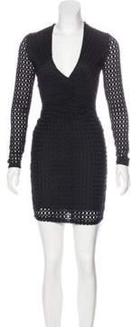 Bec & Bridge Eyelet Mini Dress