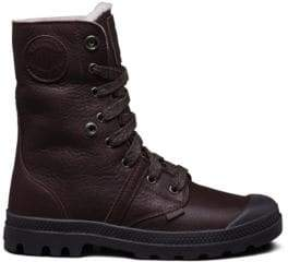 Palladium Pallabrouse Leather Lace-Up Boots
