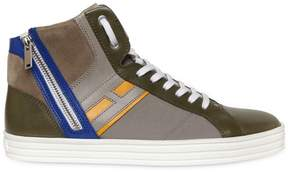 Hogan Leather & Papirok High Top Sneakers