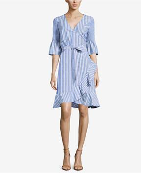 ECI Striped Wrap Dress