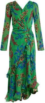 Etro Floral-print V-neck silk dress