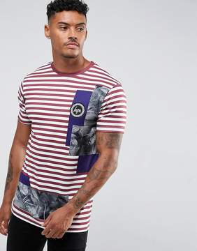 Hype T-Shirt With Burgundy Stripes