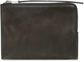 Rick Owens Vintage Leather Zipped Medium Pouch