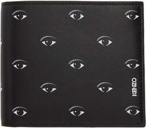 Kenzo Black Multi Eye Wallet