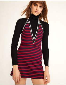 Cynthia Rowley | Lisbon Striped Mini Dress | L | Red/navy