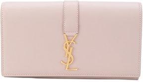 Saint Laurent zip-around monogram wallet - PINK & PURPLE - STYLE