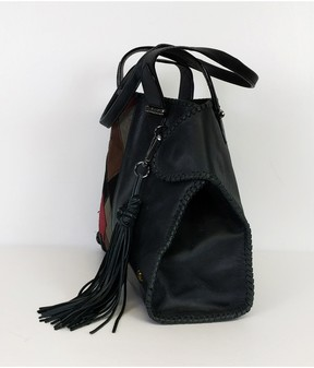 Elliott Lucca Black Patchwork Shoulder Bag
