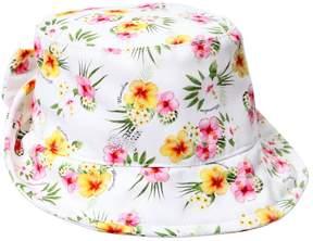 MonnaLisa Floral Printed Cotton Ottoman Hat
