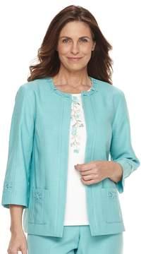Alfred Dunner Women's Studio Embellished Open-Front Jacket