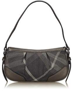 Burberry Pre-owned: Plaid Jacquard Shoulder Bag. - GRAY - STYLE