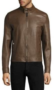 Bally Long Sleeve Leather Jacket