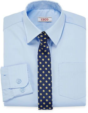 Izod Dress Shirt and Clip-On Tie Set - Preschool Boys 4-7
