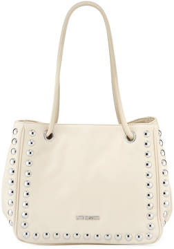 Love Moschino Studded Faux-Leather Satchel Bag