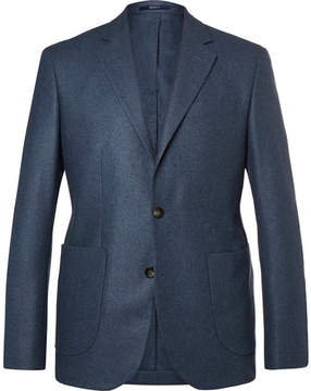 Hardy Amies Navy Slim-Fit Unstructured Cashmere Blazer