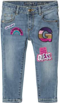 GUESS Blue Denim Badge Jeans