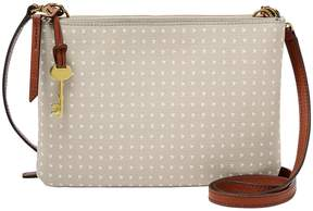 Fossil Devon Heart-Print Cross-Body Bag