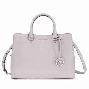 Michael Kors Savannah Medium Leather Satchel - Pearl Grey - ONE COLOR - STYLE