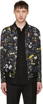 Fendi Reversible Black Butterfleyes Bomber Jacket
