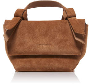 Acne Studios Musubi Milli Knotted Suede Shoulder Bag