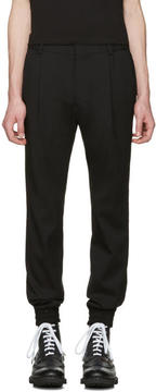 Juun.J Black Slim Cuff Trousers
