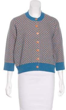 Chanel Jacquard Cashmere Cardigan