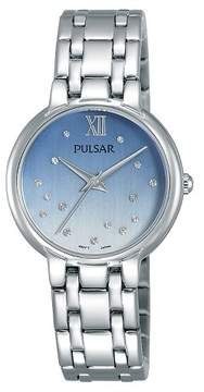 Pulsar Ladies with Swarovski Crystal Accents - Silver Tone with Blue Dial - PH8301