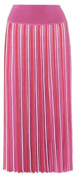 Agnona Striped silk and cotton skirt