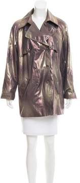 Ellen Tracy Metallic Double-Breasted Jacket