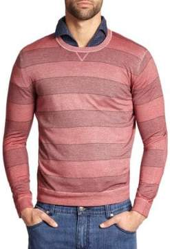 Isaia Vintage Overdyed Striped Wool Sweater