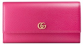 Gucci Women's Petite Marmont Leather Continental Wallet - Pink - BLACK - STYLE