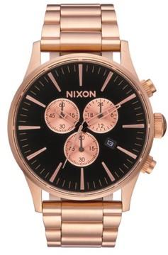 Nixon Men's The Sentry Chronograph Bracelet Watch, 42Mm