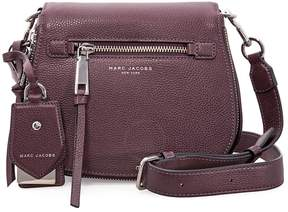 Marc Jacobs Recruit Nomad Small Pebbled Leather Saddle Bag- Blackberry