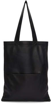 Rick Owens Black Signature Leather Tote