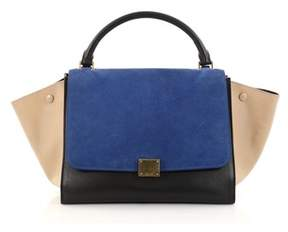 Celine Pre-owned: Tricolor Trapeze Handbag Suede Medium.