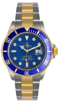 Rolex Submariner 16613 Two Tone Blue Diamond