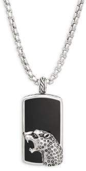Effy Men's Onyx, Black Sapphire and Sterling Silver Pendant Necklace