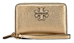 Tory Burch Mcgraw Metallic Bi-Fold Wallet - GOLD - STYLE