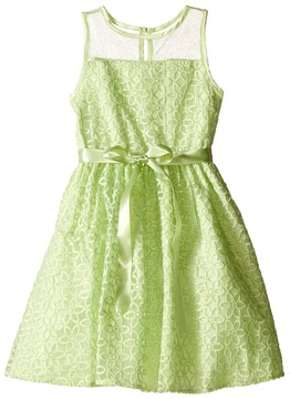 Us Angels Embroidered Daisy Organza Mesh Dress (Toddler/Little Kids)
