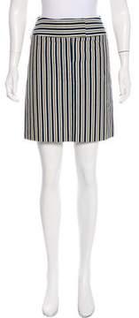 Cacharel Striped Mini Skirt