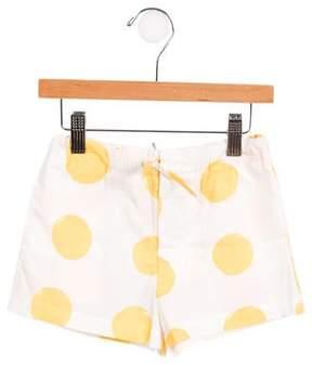 Marni Girls' Polka Dot Drawstring Shorts w/ Tags
