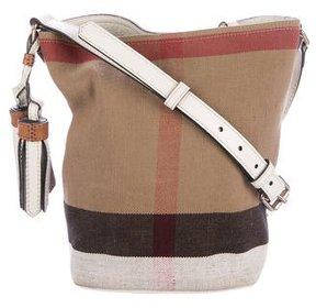 Burberry House Check Bucket Bag - BROWN - STYLE