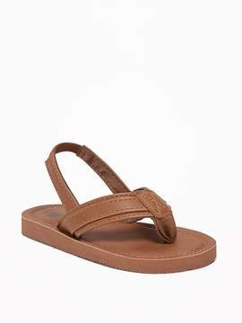 Old Navy Faux-Leather Flip-Flops for Toddler Boys