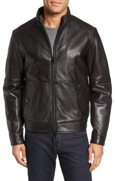 Pal Zileri Men's Leather Blouson Jacket