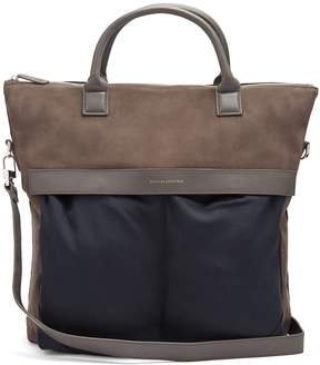 WANT Les Essentiels O'hare suede and canvas tote