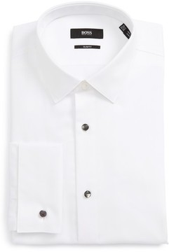 BOSS Men's Jasper Slim Fit Tuxedo Shirt