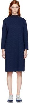 Blue Blue Japan Navy Jacquard Rope Pattern Dress