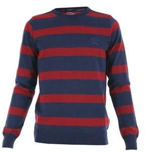Paul & Shark Men's I16p1051363 Blue/red Wool Sweater.