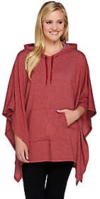 Cuddl Duds As Is Comfortwear French Terry Poncho w/ Hood